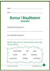 Rumur í Rauðhamri – Verkefni