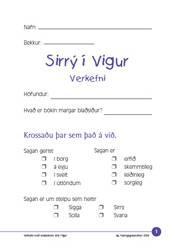 Sirrý í Vigur – Verkefni