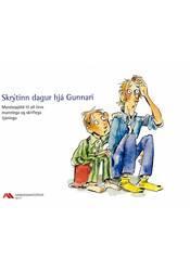 Skrýtinn dagur hjá Gunnari – Myndaspjöld