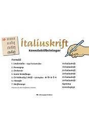Ítalíuskrift – Kennsluleiðbeiningar