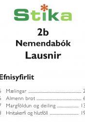 Stika 2b - nemendabók - lausnir