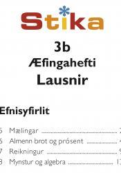 Stika 3b – Lausnir við æfingahefti